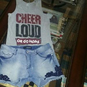 Girls Jordon shorts and tank top